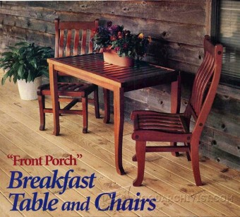 804-Breakfast Table and Chairs Plans