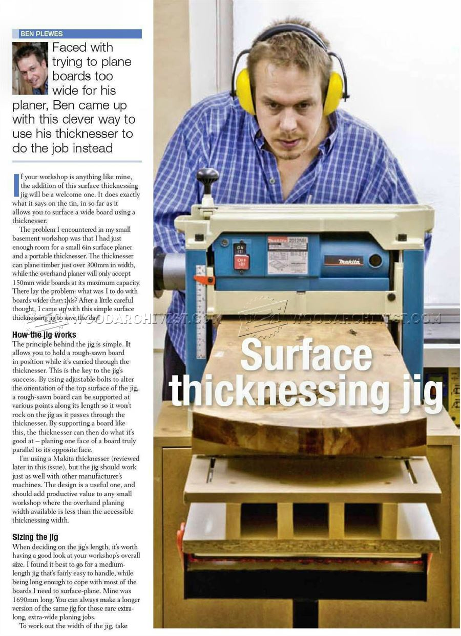 Surface Thicknessing Jig
