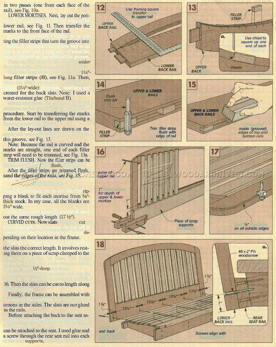 Blueprints For A Modern Four Bedroom Home: Porch Swing Plans • WoodArchivist