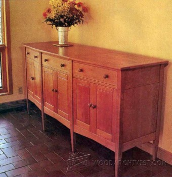 812-Angle-Front Sideboard Plans