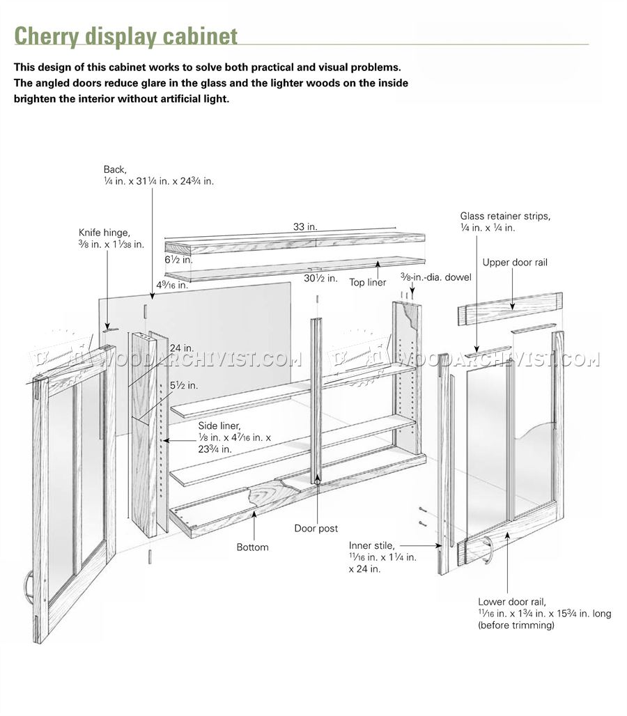 Cherry Display Cabinet Plans