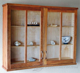 817-Cherry Display Cabinet Plans