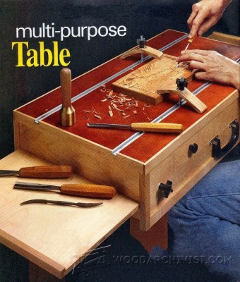 820-Carving Table Plans
