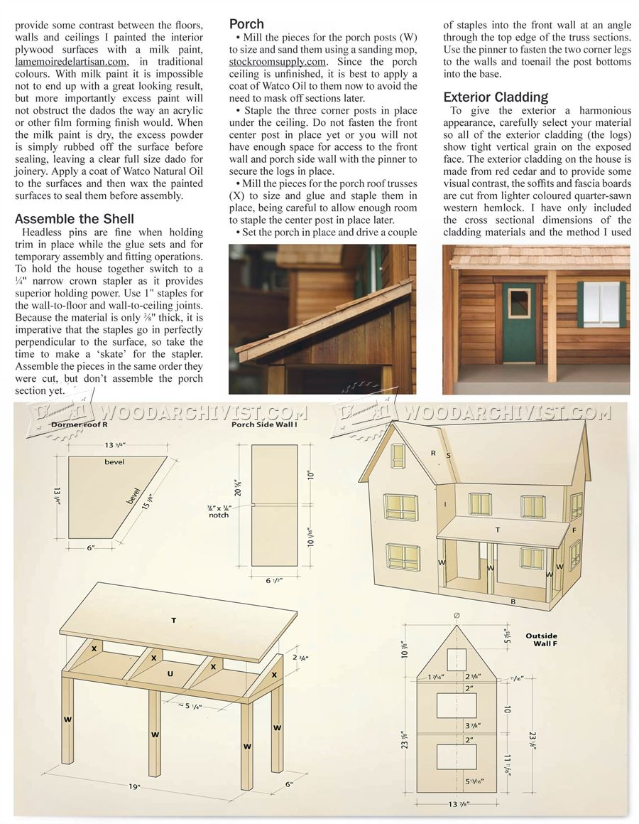 Free dollhouse plans dxf for American house plans free