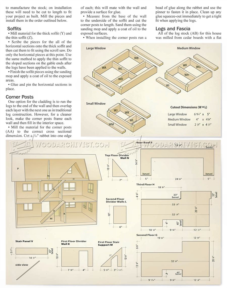 28 fantastic dollhouse blueprints woodworking plans for Diy home design software free