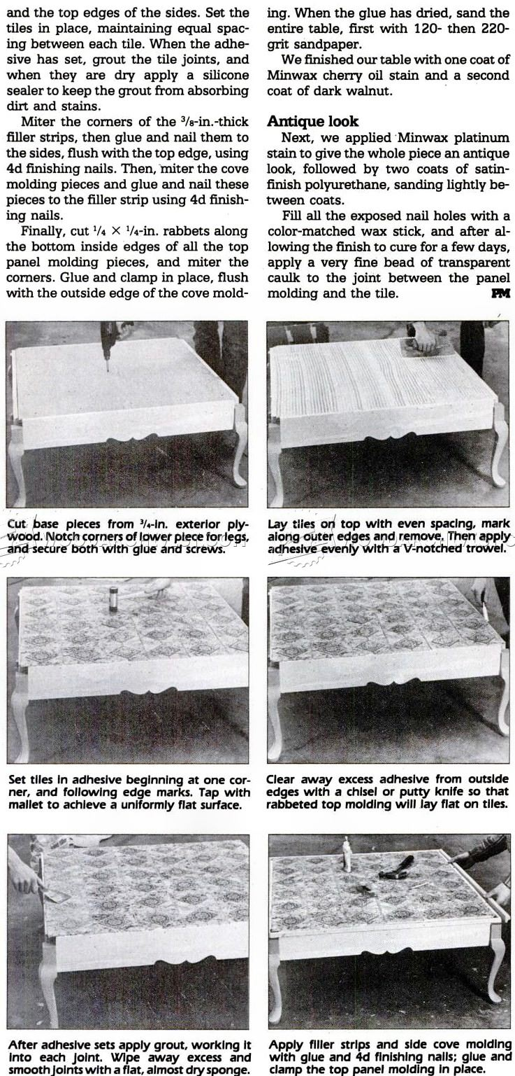 Country Coffee Table Plans