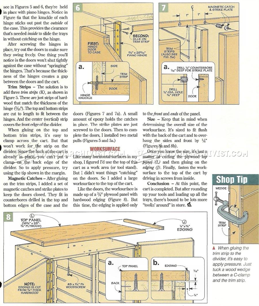 Roll Around Tool Cart Plans Woodarchivist