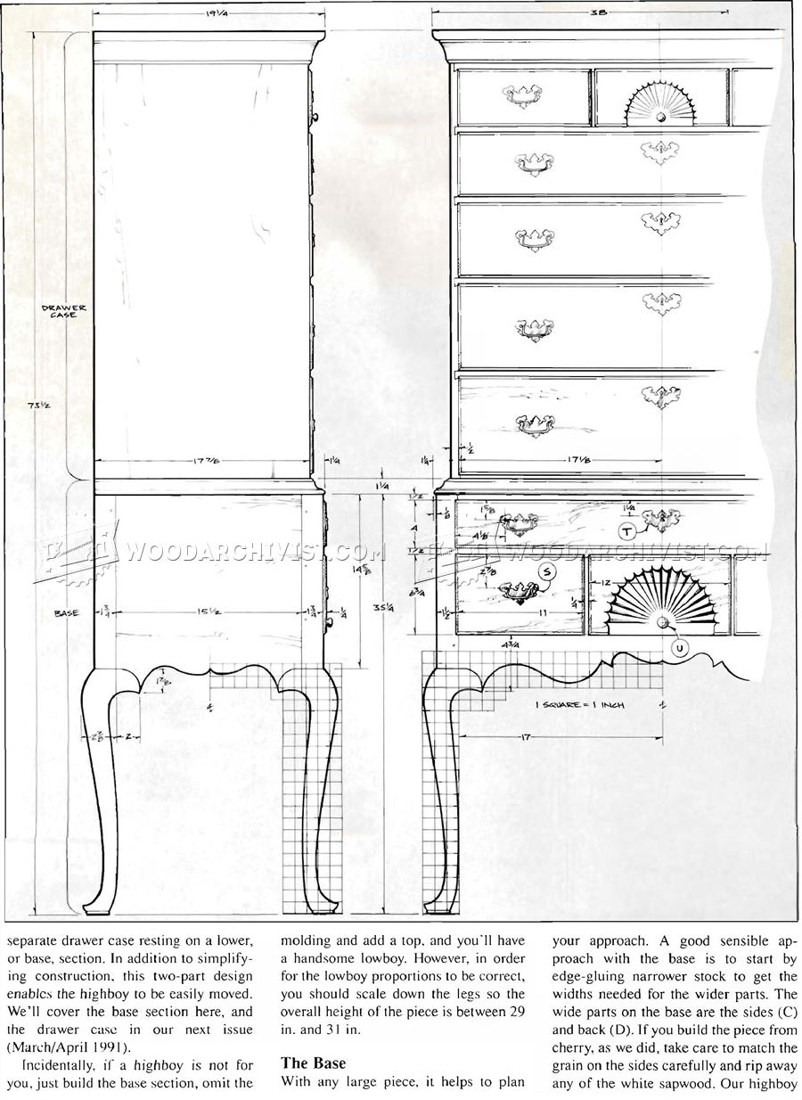 Connecticut River Valley Highboy Plans