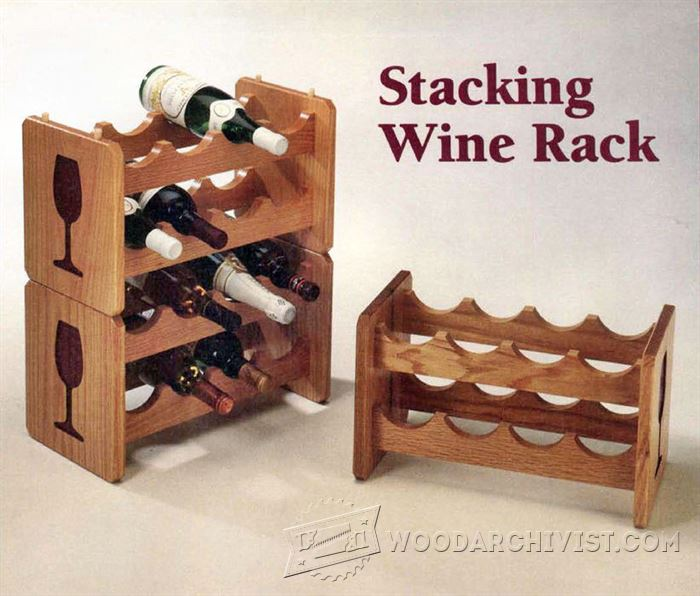 Wine rack plans for woodworking image mag - Wine rack for small space plan ...