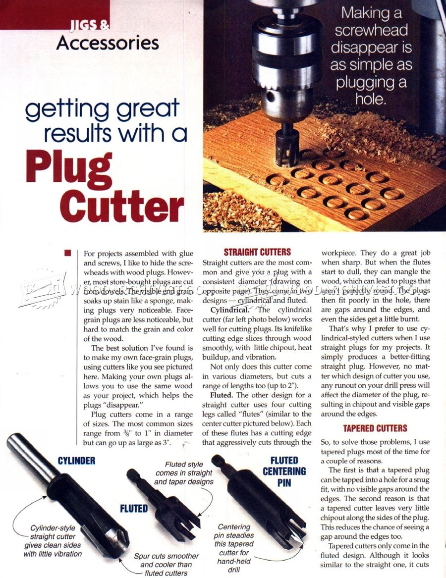 Getting Great Results With a Plug Cutter