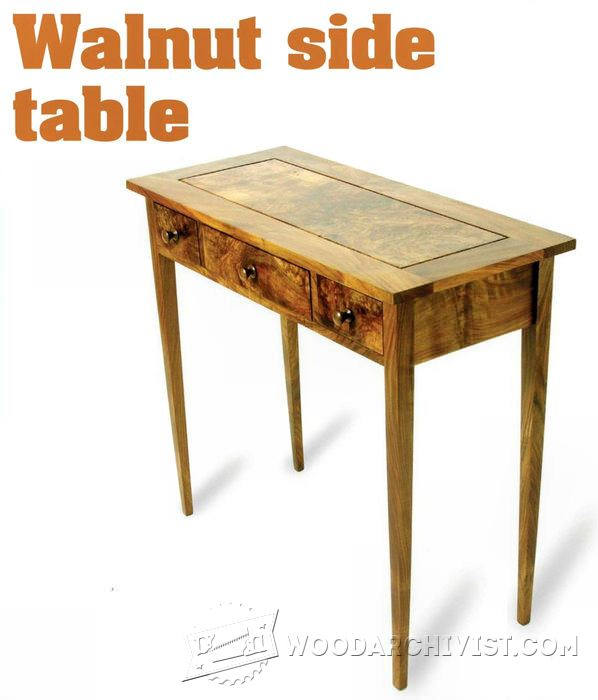 Cool Sideless Side Table Woodworking Plan From WOOD Magazine