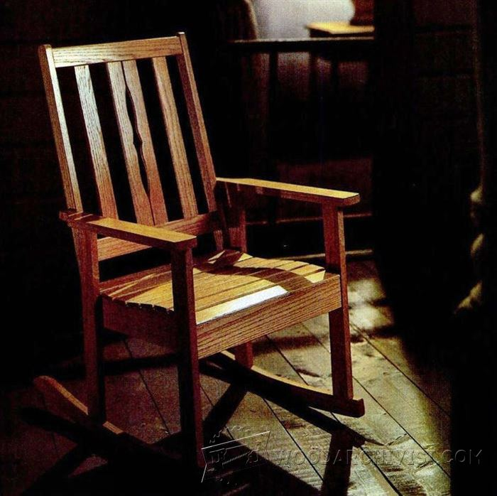 Solid oak rocking chair plans woodarchivist for Rocking chair design plans