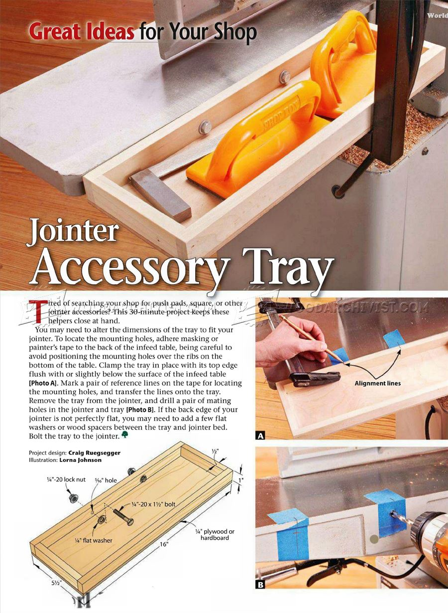 #861 Jointer Accessory Tray