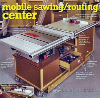 863-Table Saw Workstation Plans