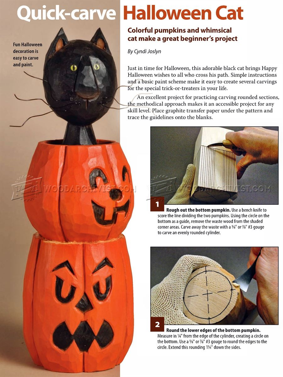 Halloween Cat - Wood Carving Patterns