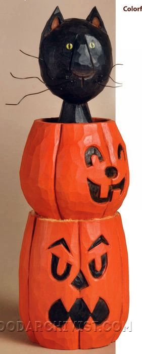 867-Halloween Cat - Wood Carving Patterns