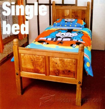 876-Single Bed Plans
