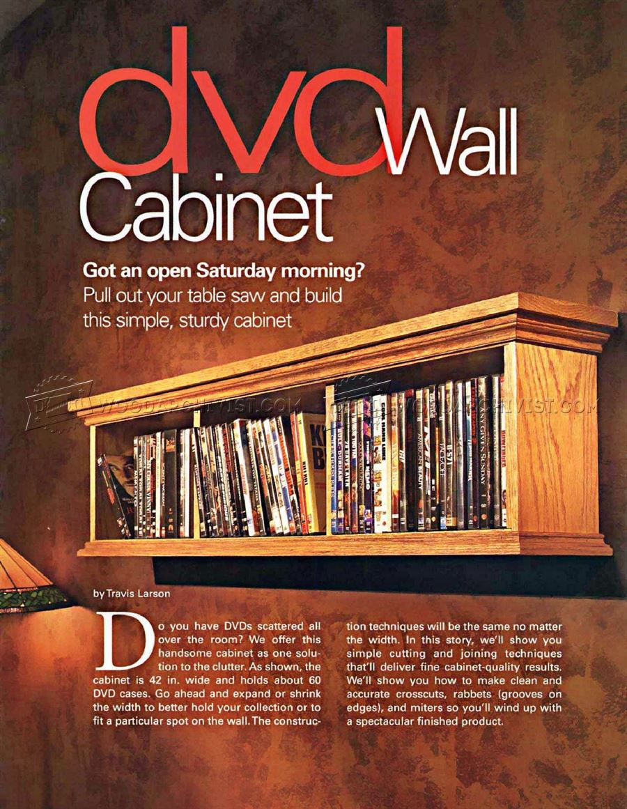 DVD Wall Cabinet Plans & DVD Wall Cabinet Plans u2022 WoodArchivist