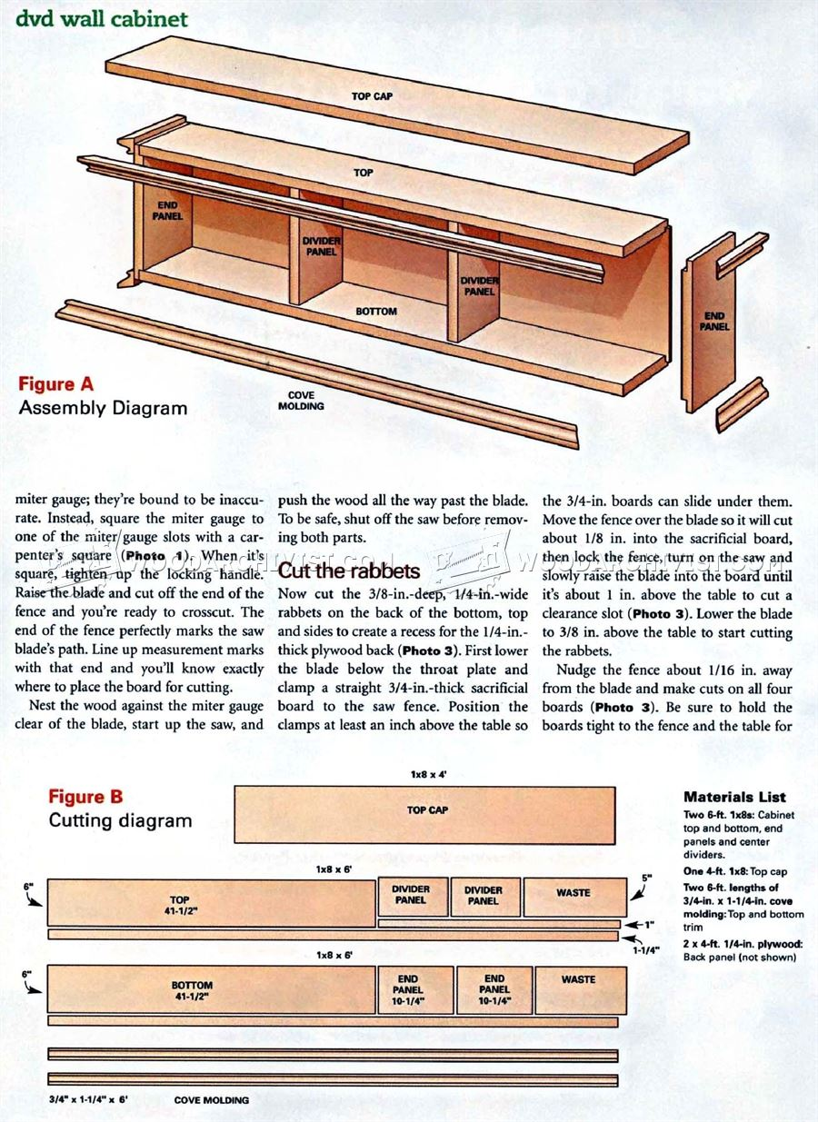DVD Wall Cabinet Plans