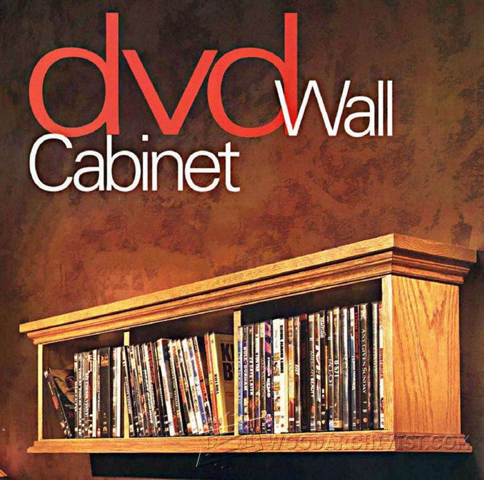 DVD Wall Cabinet Plans • WoodArchivist
