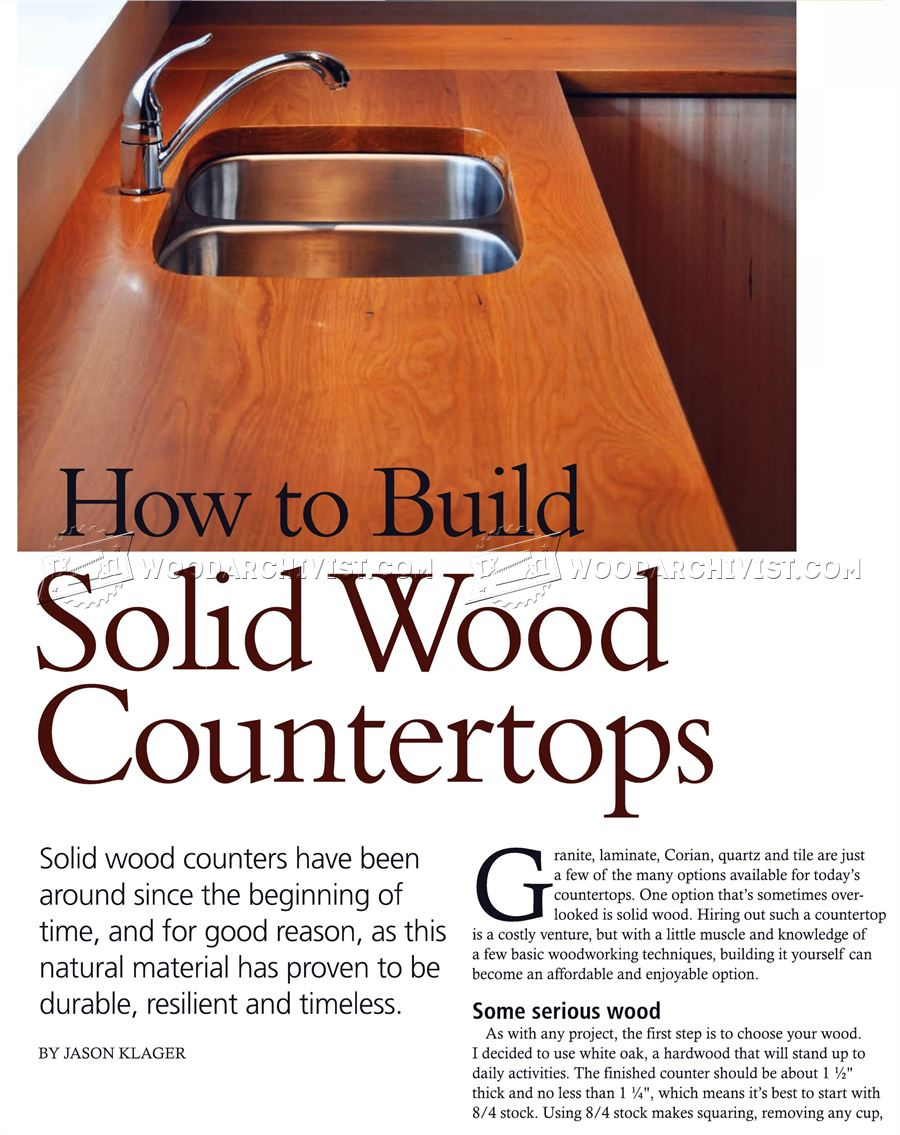 How to Build Wood Countertops