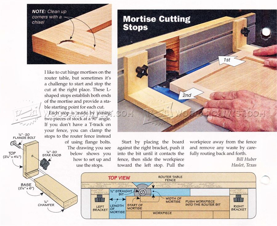 #890 Cutting Hinge Mortises on Router Table