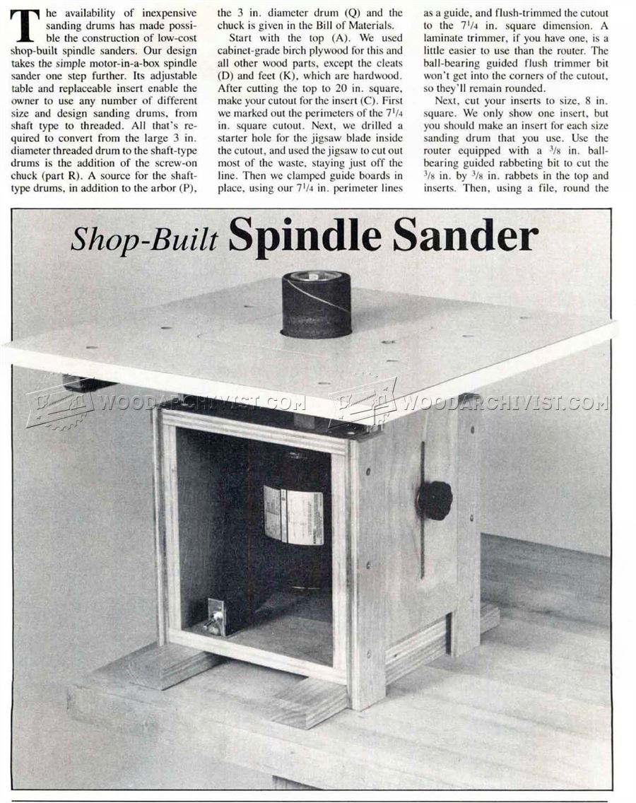 DIY Spindle Sander