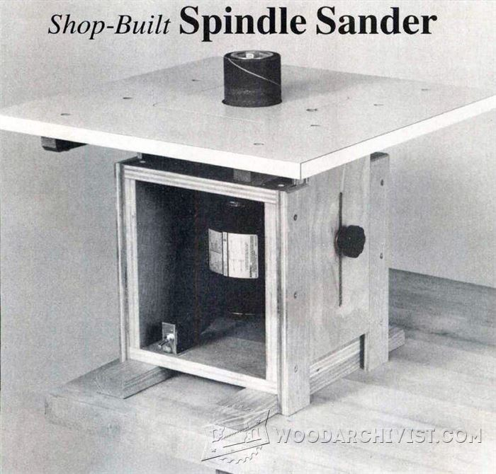 Diy Spindle Sander Woodarchivist