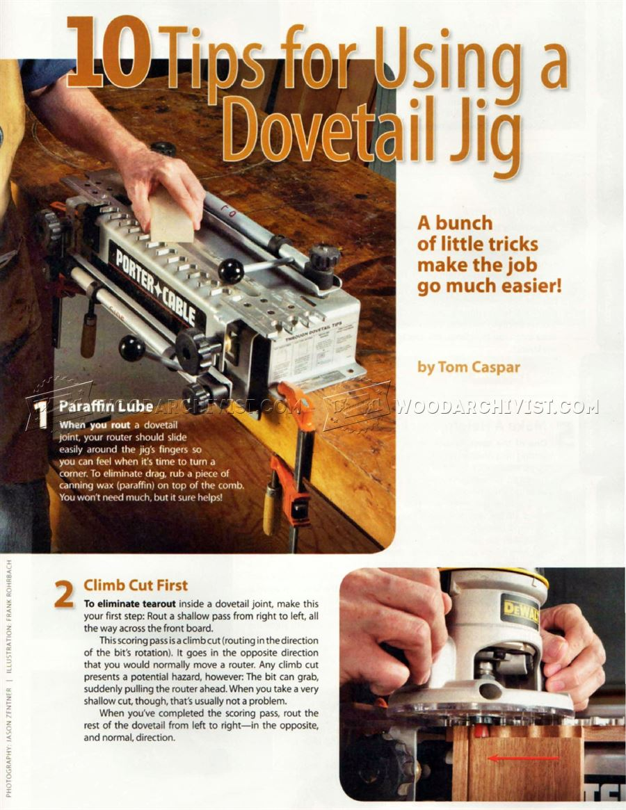 10 Tips for Using a Dovetail Jig