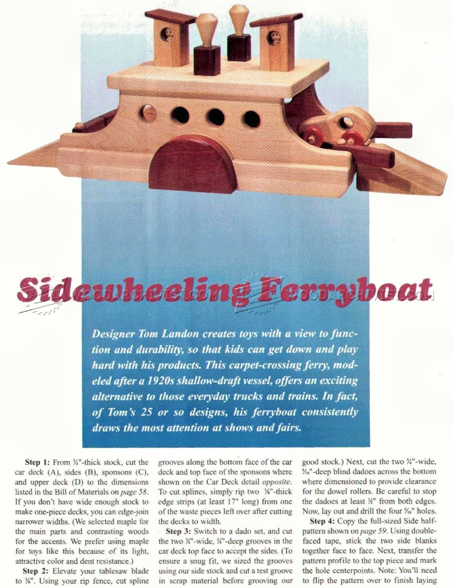 Wooden Ferry Boat Plan