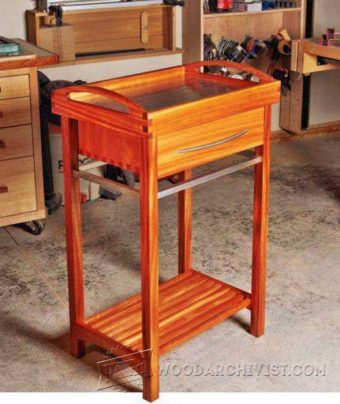 910-Serving Tray Cart  Plans