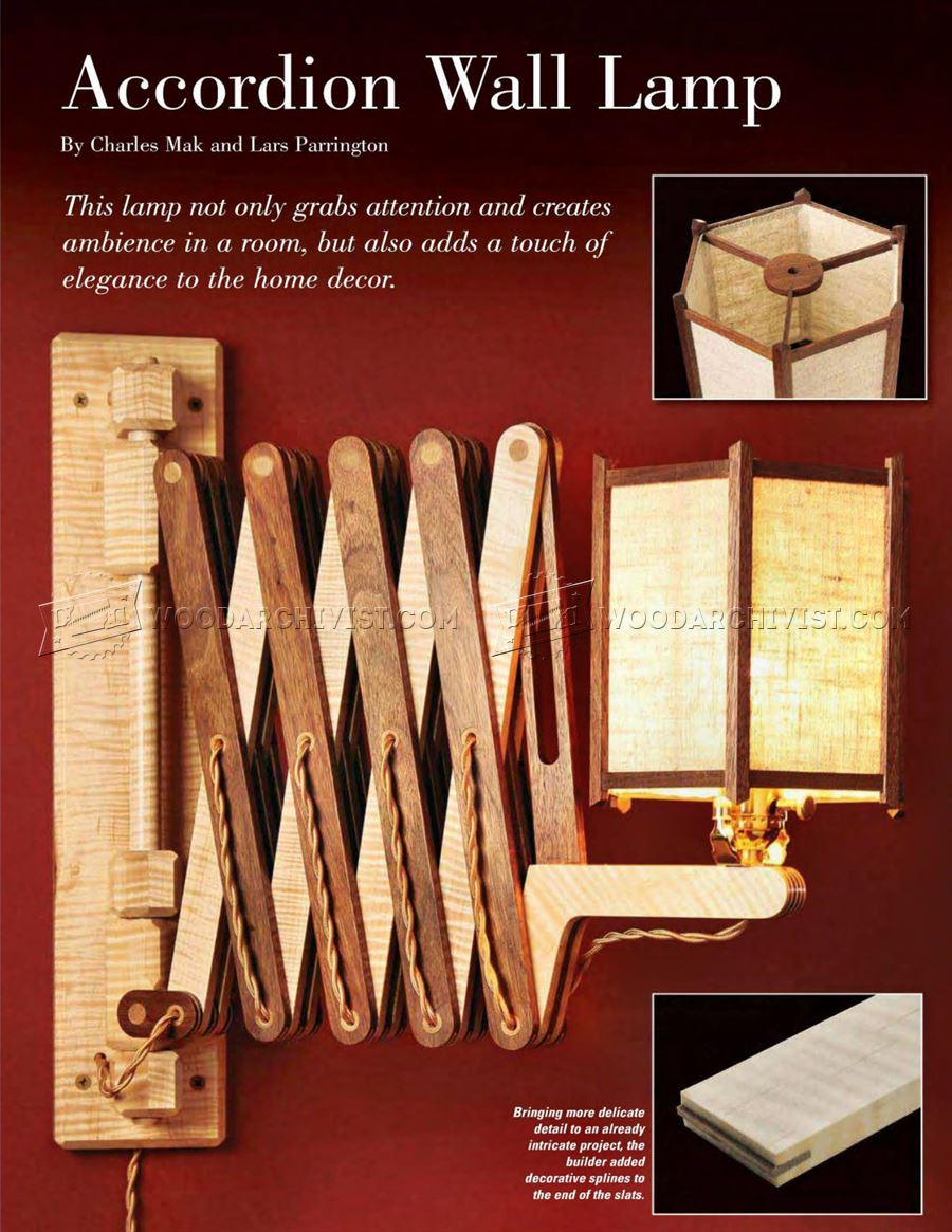 Wooden Accordion Wall Lamp Plan