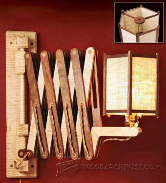 911-Wooden Accordion Wall Lamp Plan
