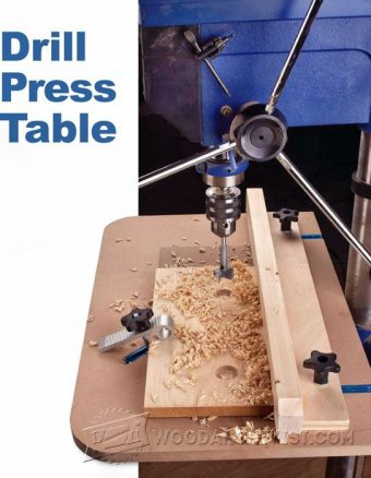 913-Drill Press Table Plan