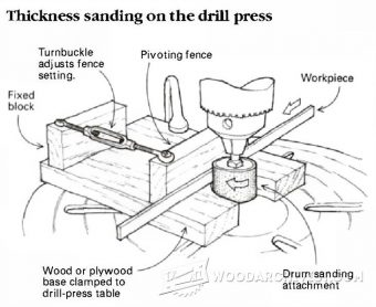 1005-Thickness Sanding on the Drill Press