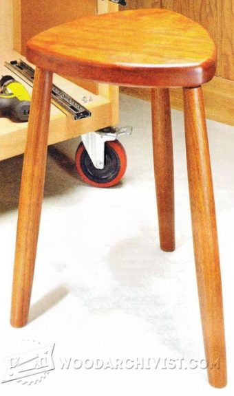 1009-Handy Shop Stool Plans
