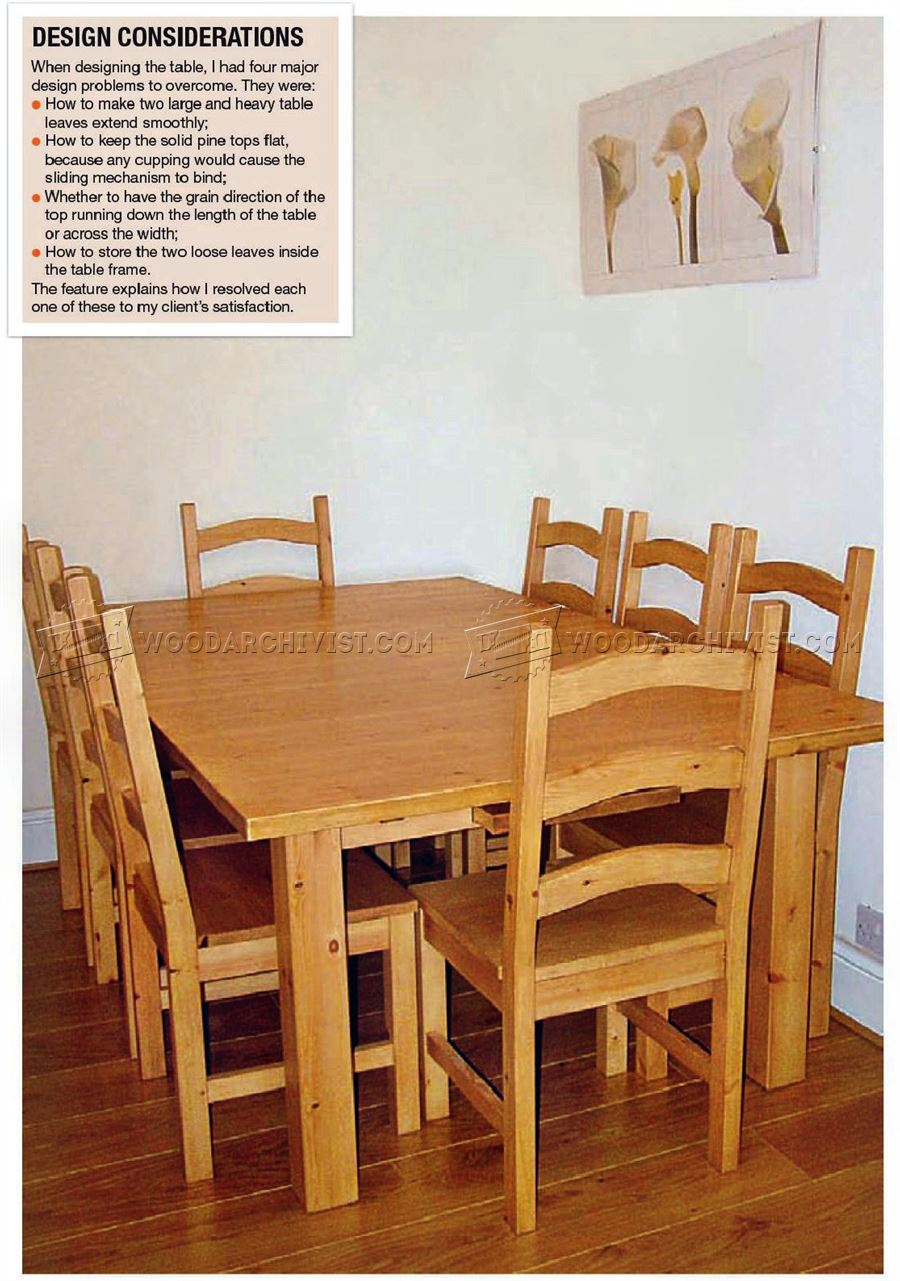 1012 Pine Dining Table and Chairs Plans WoodArchivist