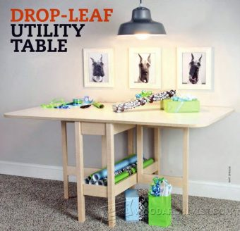 1016-Drop Leaf  Table Plans