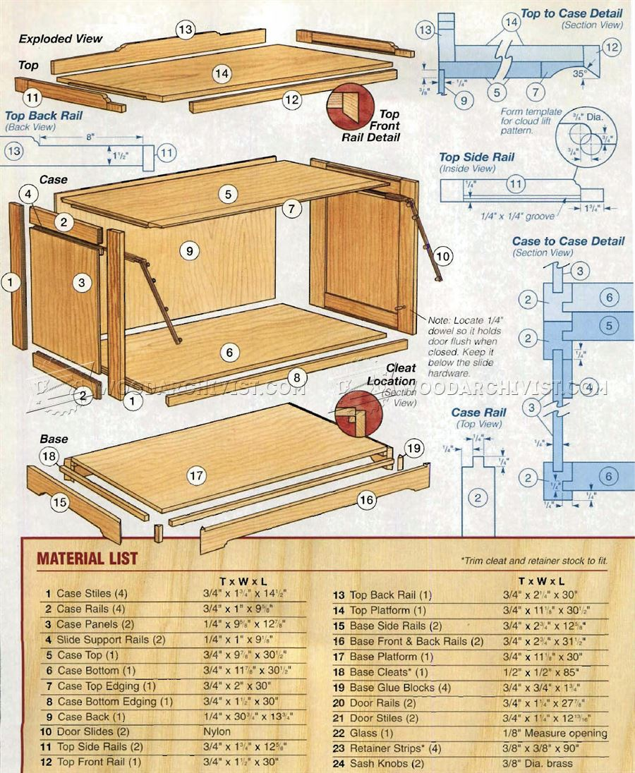 1021 Barrister Bookcase Plans – Furniture Plans
