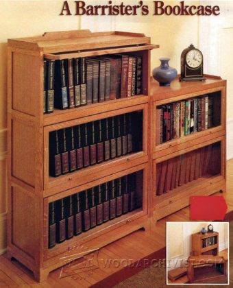 1021-Barrister Bookcase Plans