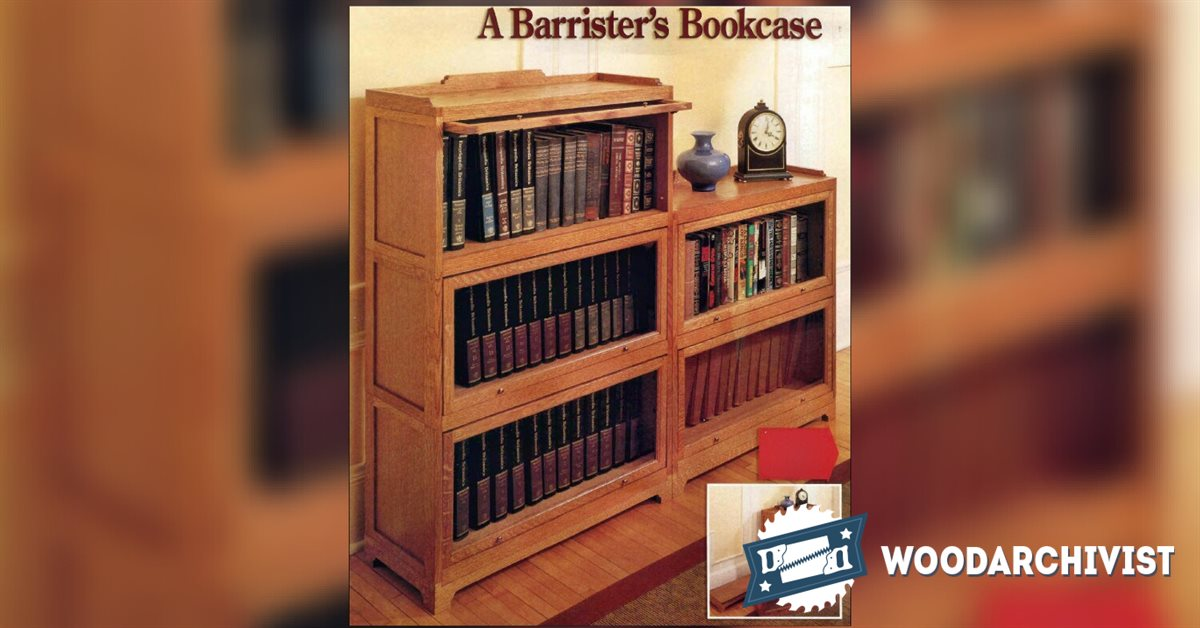 Barrister Bookcase Plans • WoodArchivist