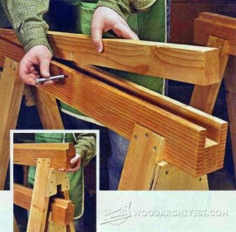 1027-Replaceable Inserts Save Sawhorses