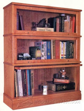1029-Barrister Bookcase Plans
