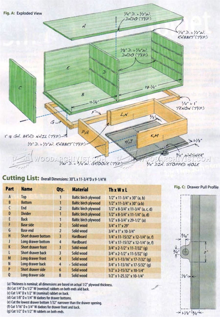 Small Tools Cabinet Plans
