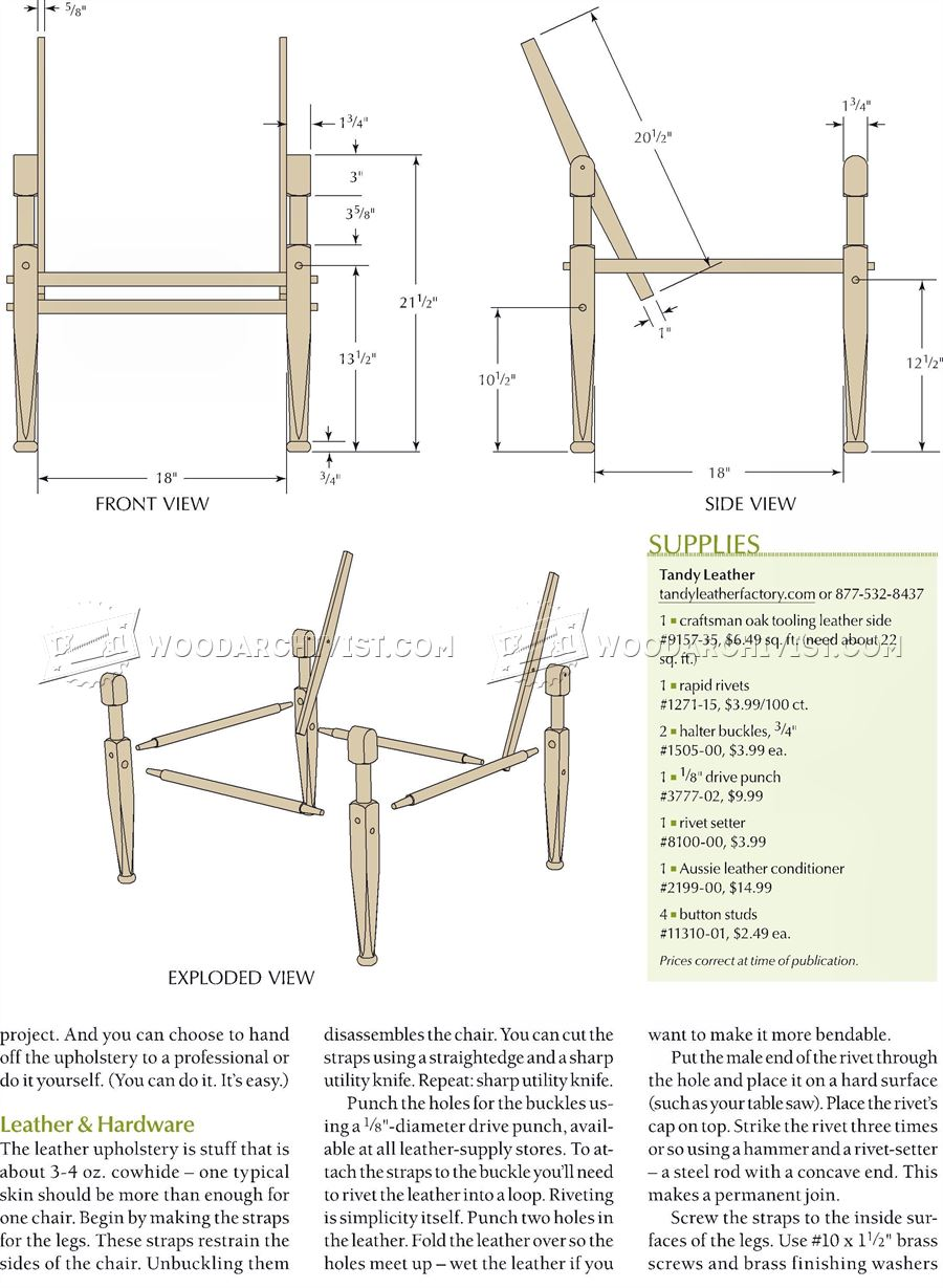 Roorkhee Chair Plans