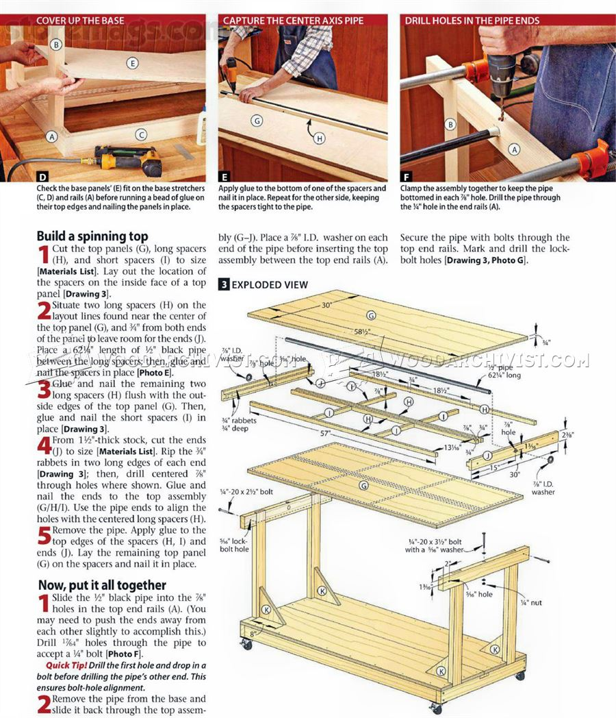 #1037 Flip-Top Tool Bench Plans • WoodArchivist