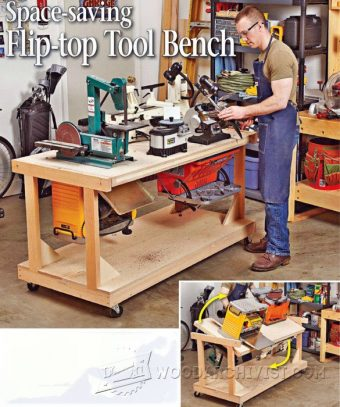 #1364 Swing-Out Tool Stand Plans • WoodArchivist