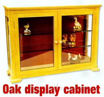1039-Oak Display Cabinet Plans