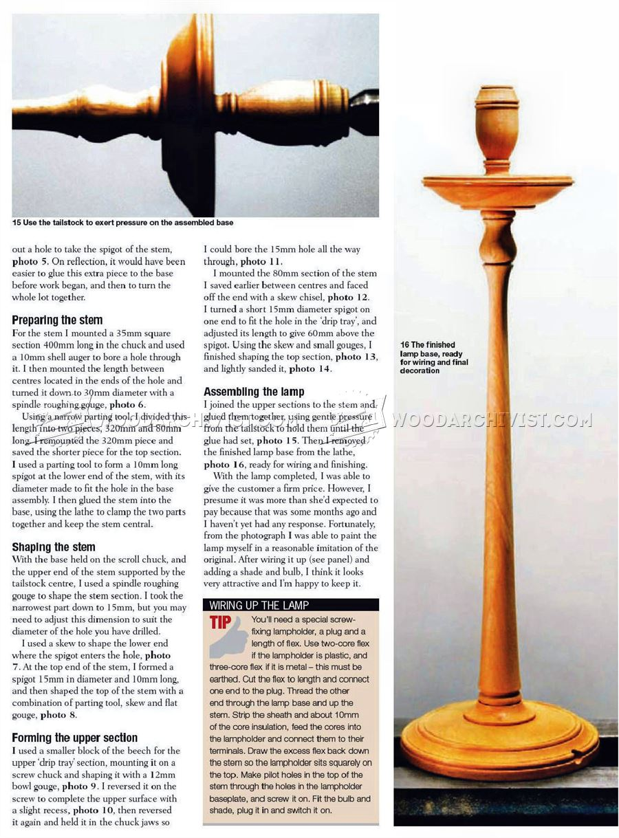 Wooden Table Lamp - Woodturning Projects