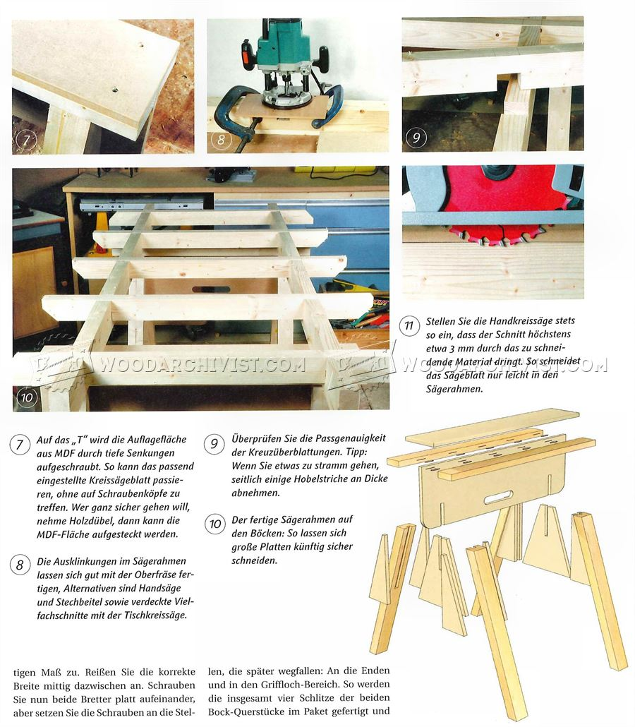Plywood Cutting Table Plans